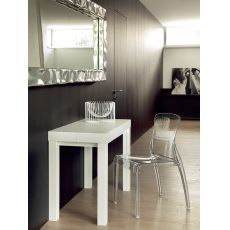 Cosmo-O - Domitalia console in white lacquered ash wood, 100 x 50 cm extendable