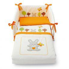 Smart Bosco set - Set letto Pali con paracolpi, piumotto sfoderabile e federa cuscino, disponibile in diversi colori