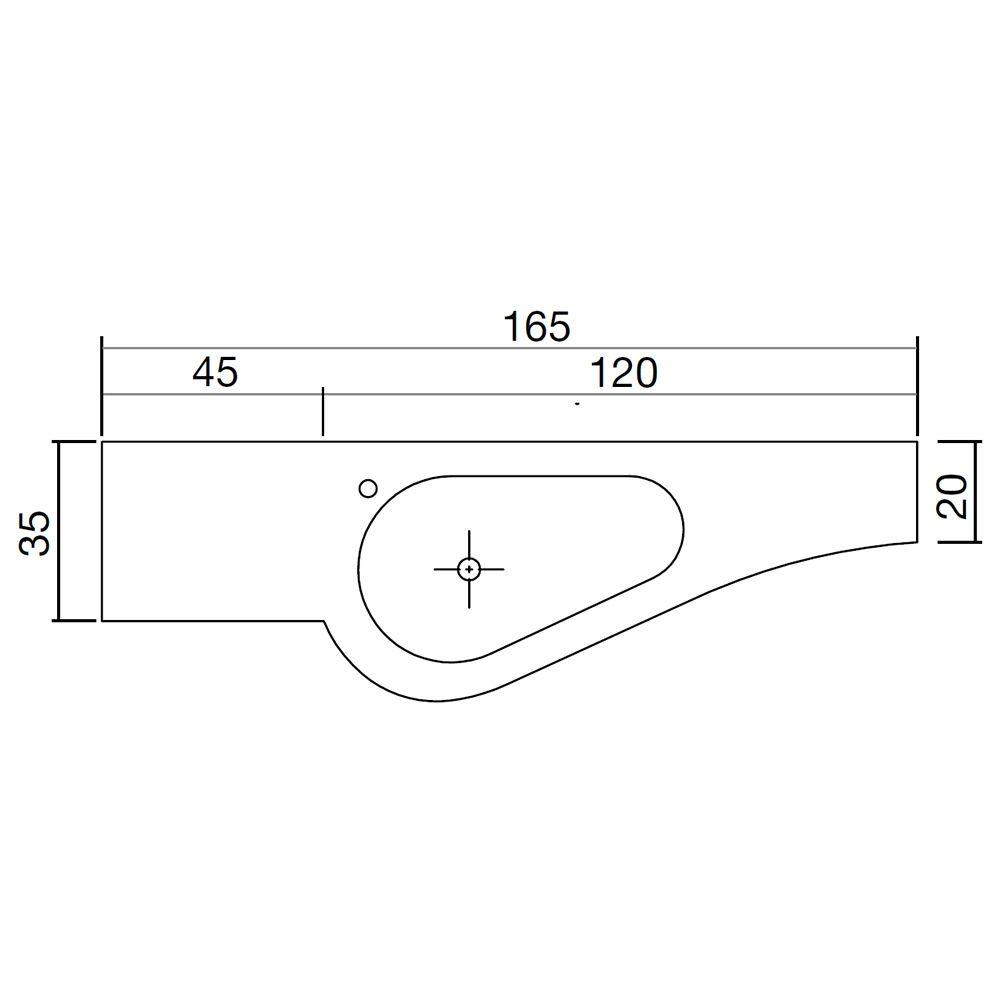 versa b meuble de salle de bain avec plan et vasque int gr e en korakril tiroir de rangement. Black Bedroom Furniture Sets. Home Design Ideas