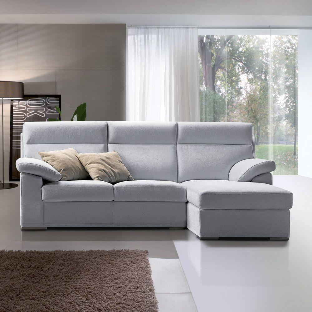 Dandy p divano con penisola reversibile e schienale alto for Divano 2 posti penisola