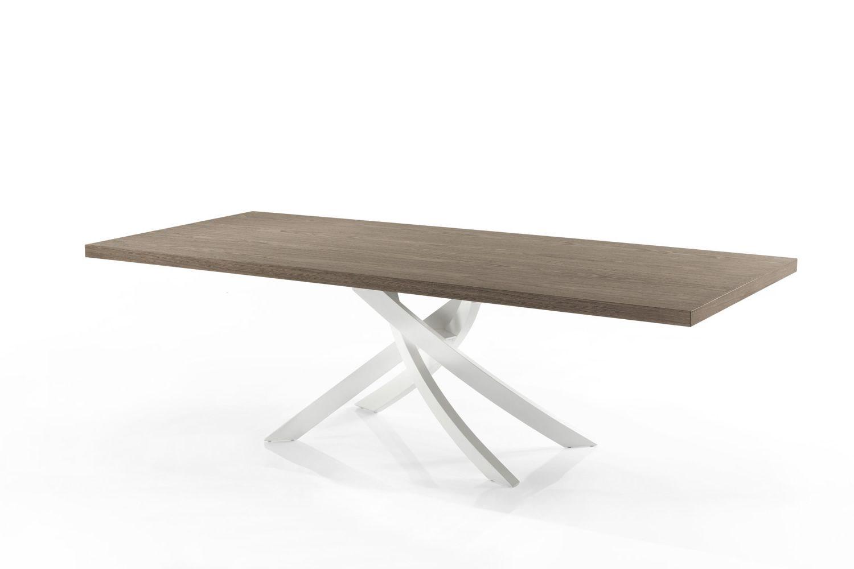 artistico wood designer tisch bontempi casa feststehend 200x106 cm mit zentralem untergestell. Black Bedroom Furniture Sets. Home Design Ideas