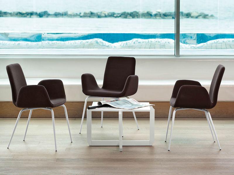 light b stuhl midj aus metall mit bezug aus leder kunstleder oder stoff sediarreda. Black Bedroom Furniture Sets. Home Design Ideas