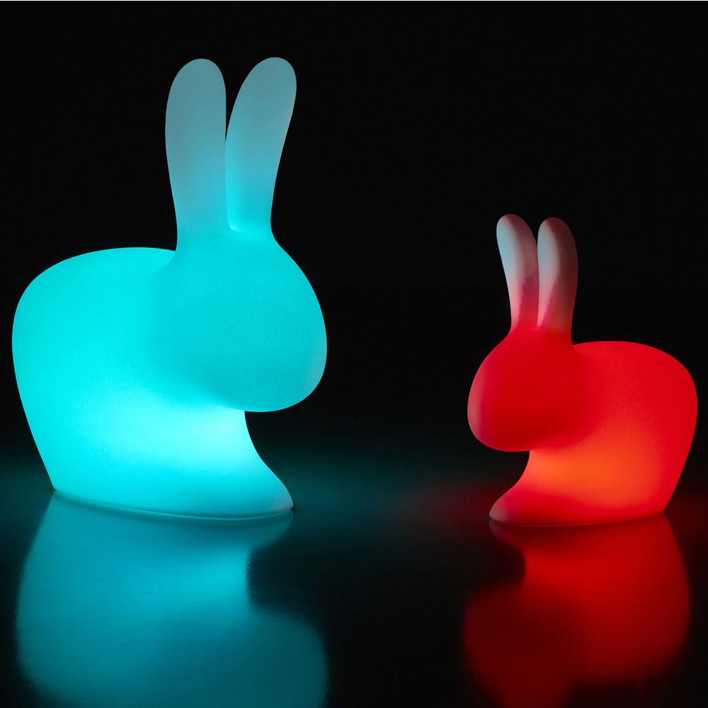 rabbit lamp outdoor led qeeboo tischlampe in form einer. Black Bedroom Furniture Sets. Home Design Ideas