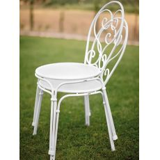 Pigalle 909 - Emu chair made of metal, stackable, in several colours, for garden