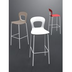 Blog S - High stool in metal, stackable, available in different heights and colours, also for outdoor