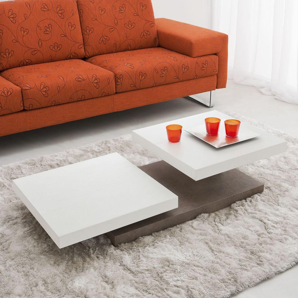 Pa368 tavolino in legno con piani girevoli disponibile for Tavolino salotto moderno amazon