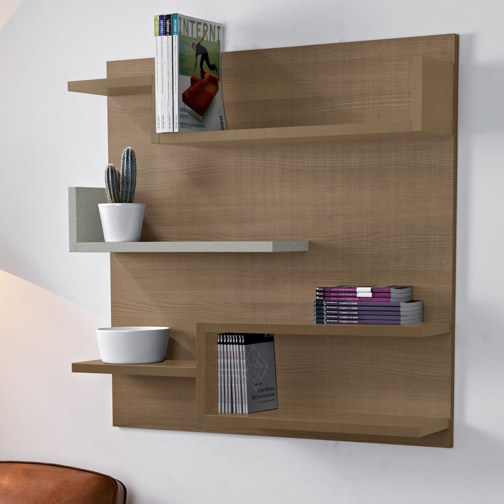 myshelf biblioth que murale en lamin cologique sediarreda. Black Bedroom Furniture Sets. Home Design Ideas