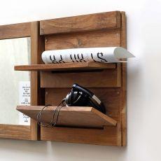 Utilitle-S - Pensile da parete Ethnicraft in legno, con mensole ribaltabili