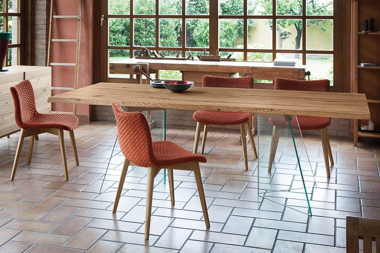 Artik tavolo fisso domitalia in vetro piano in legno for Sedie design toronto