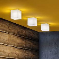 Beetle Cube - Plafonnier avec diffuseur de lumière en polycarbonate, disponible en différentes versions et dimensions