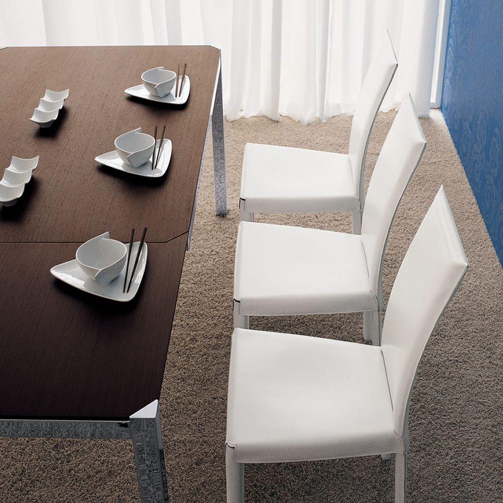 corner tisch midj aus metall mit platte aus furnierholz 140 x 90 cm verl ngerbar. Black Bedroom Furniture Sets. Home Design Ideas