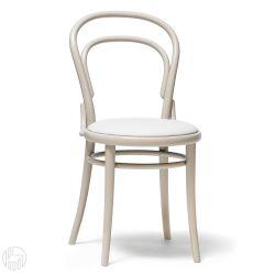 Chair 14 r sedia ton in legno curvato sedile imbottito for Sedie design treviso