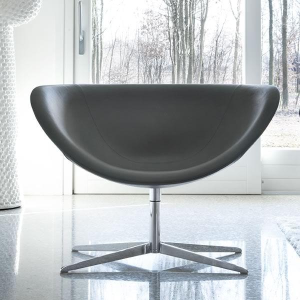 poppy poltrona design di tonon girevole in pelle o tessuto di diversi colori. Black Bedroom Furniture Sets. Home Design Ideas