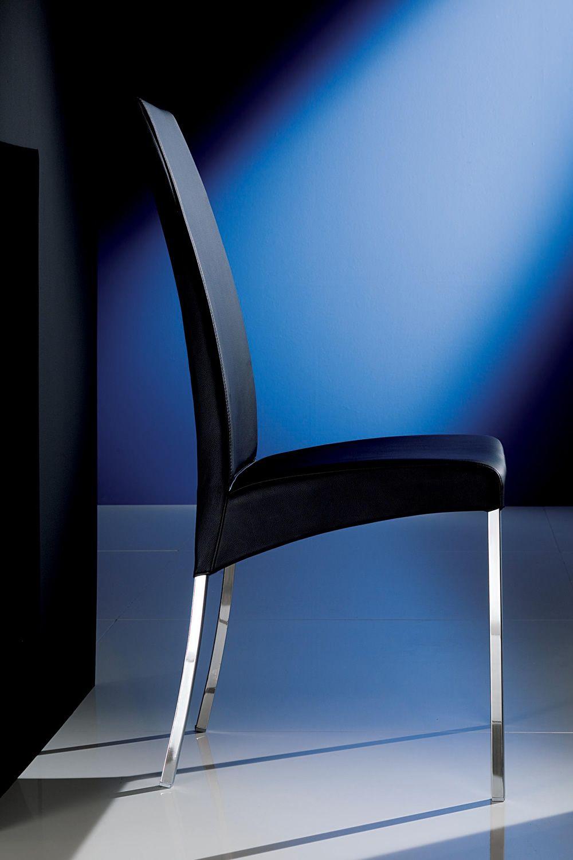 aida gepolsterter stuhl bontempi casa aus metall mit verschiedenen bez gen verf gbar. Black Bedroom Furniture Sets. Home Design Ideas