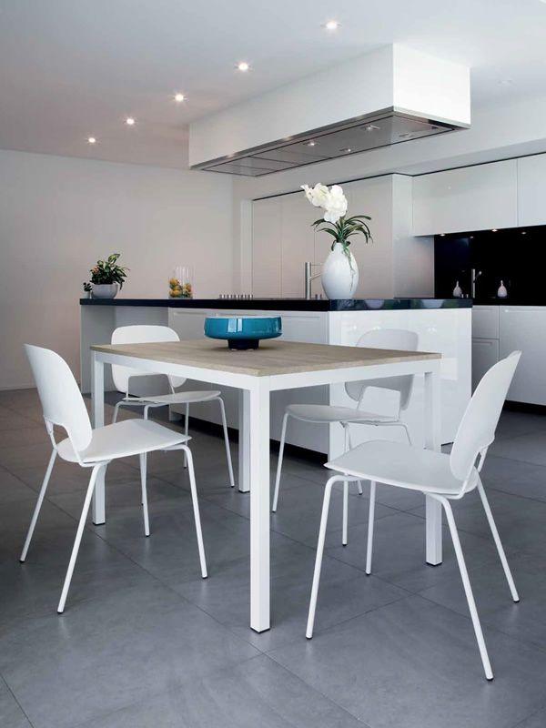 full table extensible domitalia en m tal plateau en verre ou m lamin 120 x 80 cm sediarreda. Black Bedroom Furniture Sets. Home Design Ideas