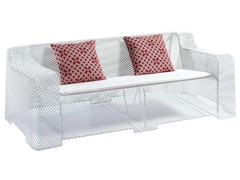 Ivy d divano emu in metallo per giardino con cuscino for Divano rosso abbinamenti