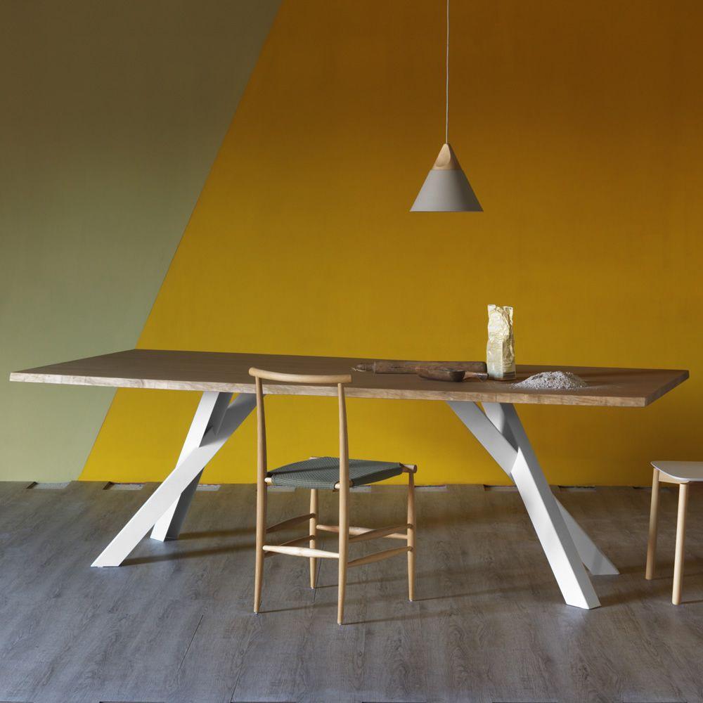 Tavolo Moderno Rettangolare Artu Miniforms : Gustave tavolo rettangolare miniforms in metallo e legno