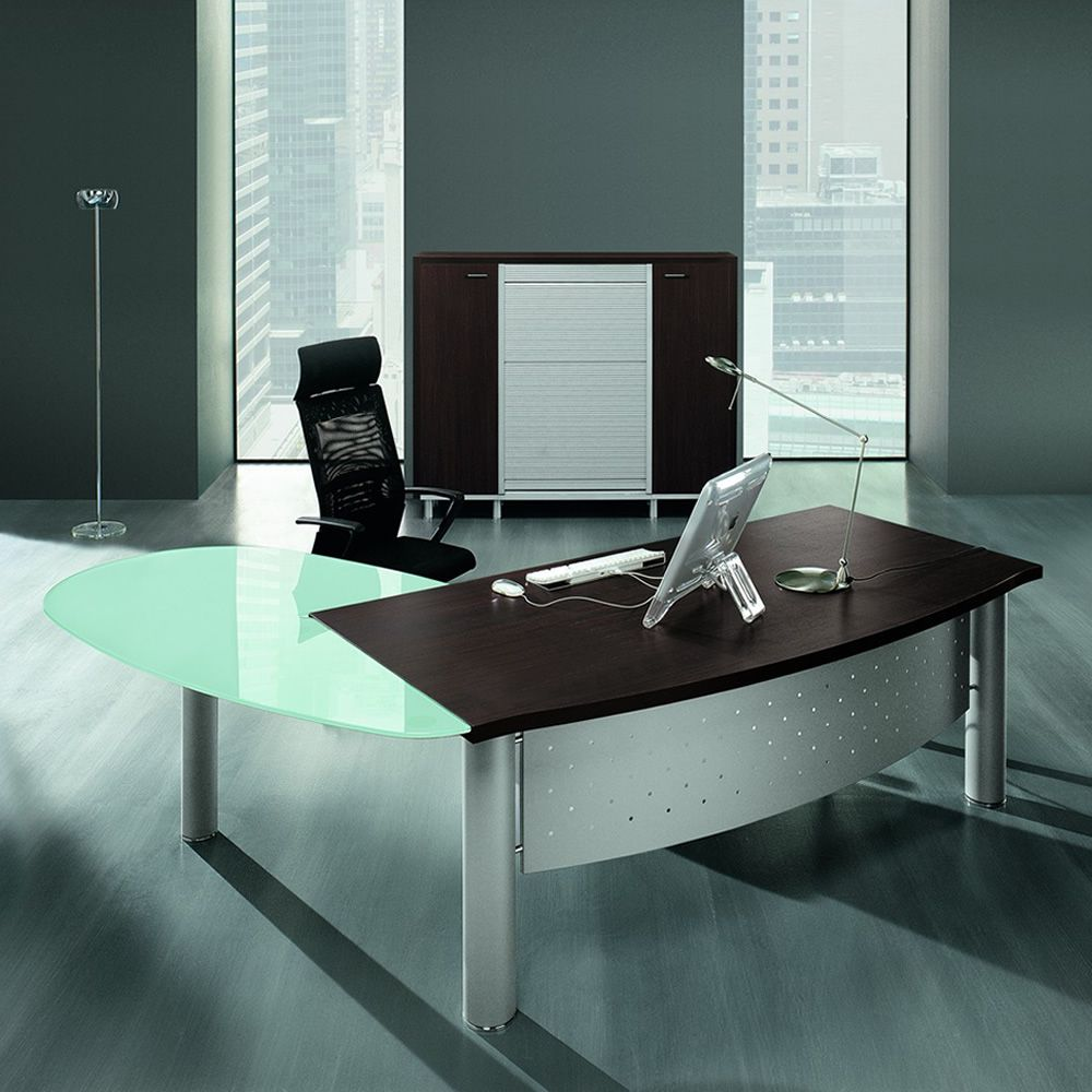 Finest scrivanie e mobili da ufficio postazioni di lavoro for Scrivanie ufficio vetro prezzi