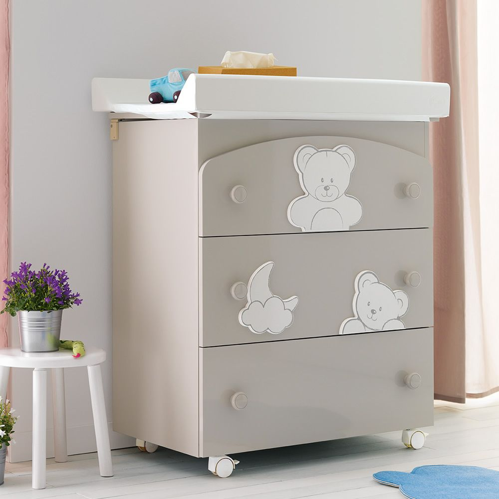 Georgia f pali changing table baby bath with 3 drawers for Changing table for bathroom