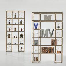 Zia Babele Ca - Libreria modulare di design, in legno di rovere naturale, disponibile in diverse dimensioni e composizioni
