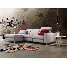 Drive In - Divano moderno a 2 posti maxi con relax e chaise longue