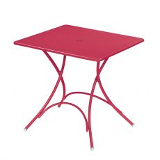 Pigalle P - Emu table made of metal, for garden, folding, 76x76 cm square top
