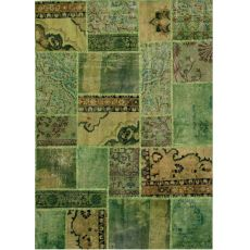 Antalya Green - Tappeto verde in pura lana vergine annodato a mano
