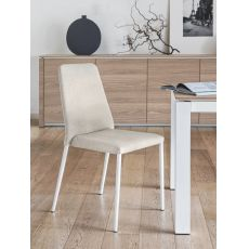 CS1462 Club - Calligaris metal chair, fabric covering in several colours