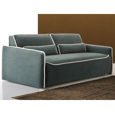 Liguria - Sofa bed, 2, 3 or 3XL seater, with removable fabric or imitation leather covering