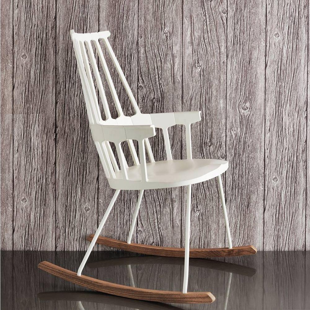 Comback 5956 sedia a dondolo kartell di design in legno - Costruire sedia a dondolo ...