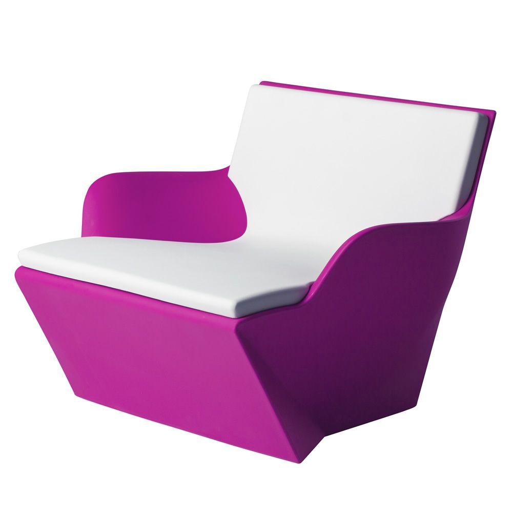 kami san fauteuil slide en poly thyl ne id al pour le jardin aussi avec clairage et coussin. Black Bedroom Furniture Sets. Home Design Ideas