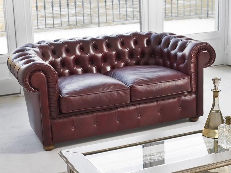 Messier 4382 divano classico a 2 posti tonin casa rivestito in similpelle pelle o pelle - Divano classico in pelle ...