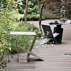 Wizard - Tavolino di design Bontempi Casa, in metallo laccato, diversi colori disponibili