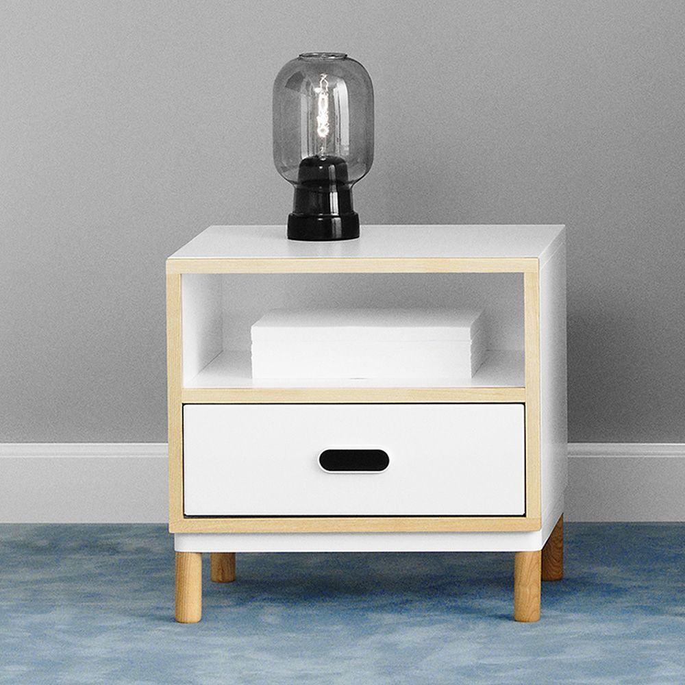 kabino n table de chevet normann copenhagen en bois et mdf tiroir en aluminium disponible en. Black Bedroom Furniture Sets. Home Design Ideas