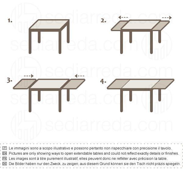 kendo m tavolo domitalia in metallo piano melaminico. Black Bedroom Furniture Sets. Home Design Ideas