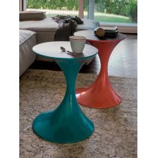 Andorra 6293 - Tonin Casa metal coffee table, glass or wooden top, several colours available