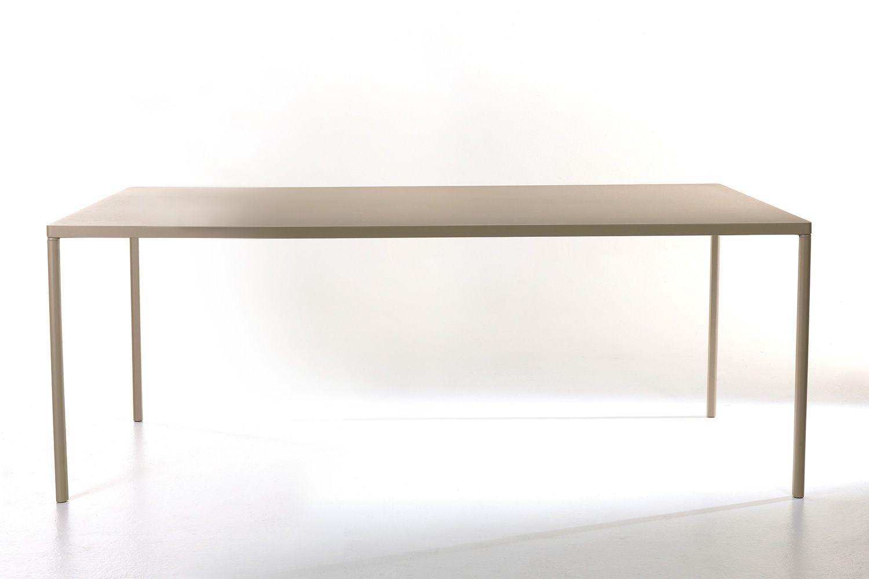 pure tisch colico aus aluminium und stahl 160x90 cm. Black Bedroom Furniture Sets. Home Design Ideas