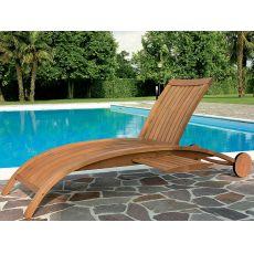 Harmony L - Lettino in legno robinia, schienale regolabile, con o senza braccioli