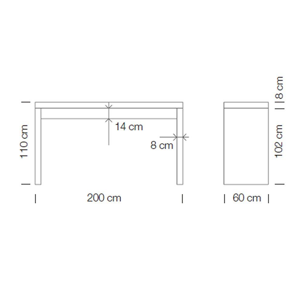 Deck tavolo alto in laminato disponibile in diverse for Misure tavolo