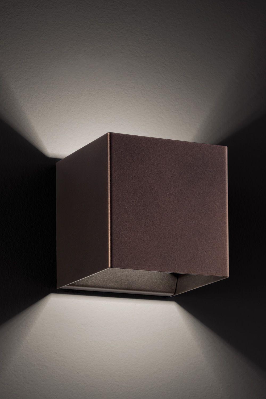 Laser Cube - Lampada a parete di design, in metallo, con luce LED ...