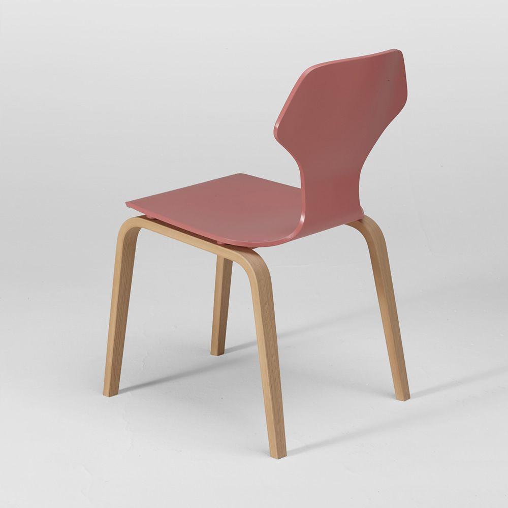 Ginger sedia di design in multistrato impiallacciato - Sedia di design ...