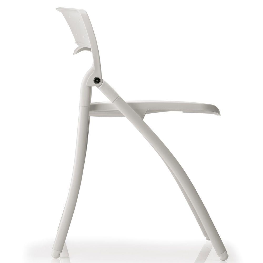 arkua - sedia infiniti in metallo e polipropilene, pieghevole ... - Sedia Pieghevole Arkua Infiniti Design
