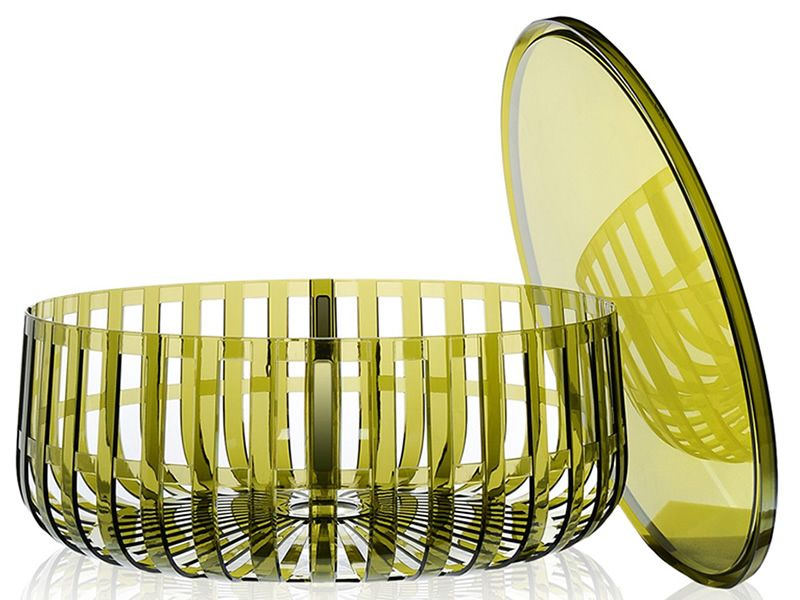 Panier portariviste tavolino kartell di design in policarbonato