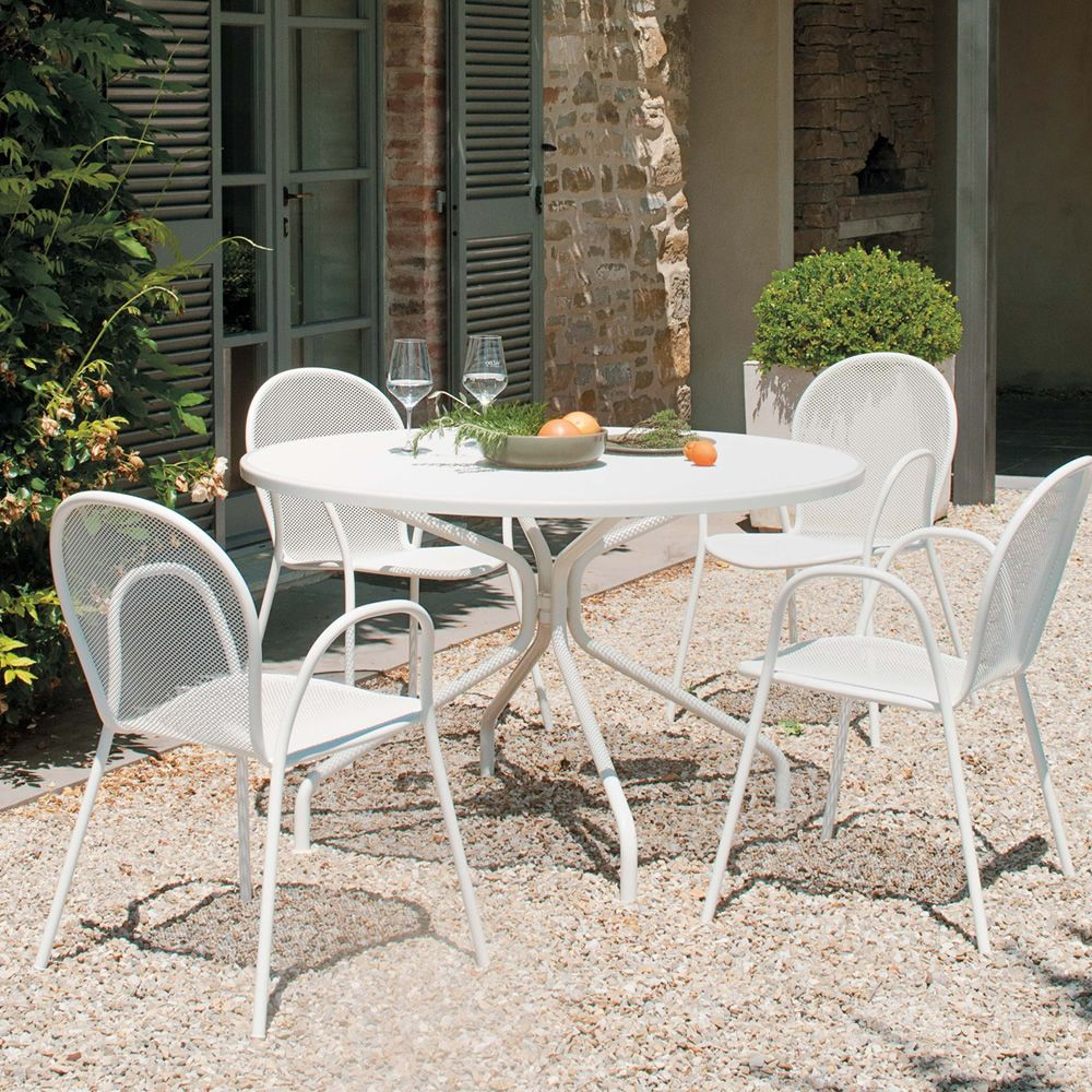 Cambi R - Emu table made of metal, for garden, round top in several ...