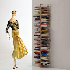 Zia Bice P - Libreria di design, da terra fissata a parete, in legno massello, disponibile in diverse dimensioni e colori