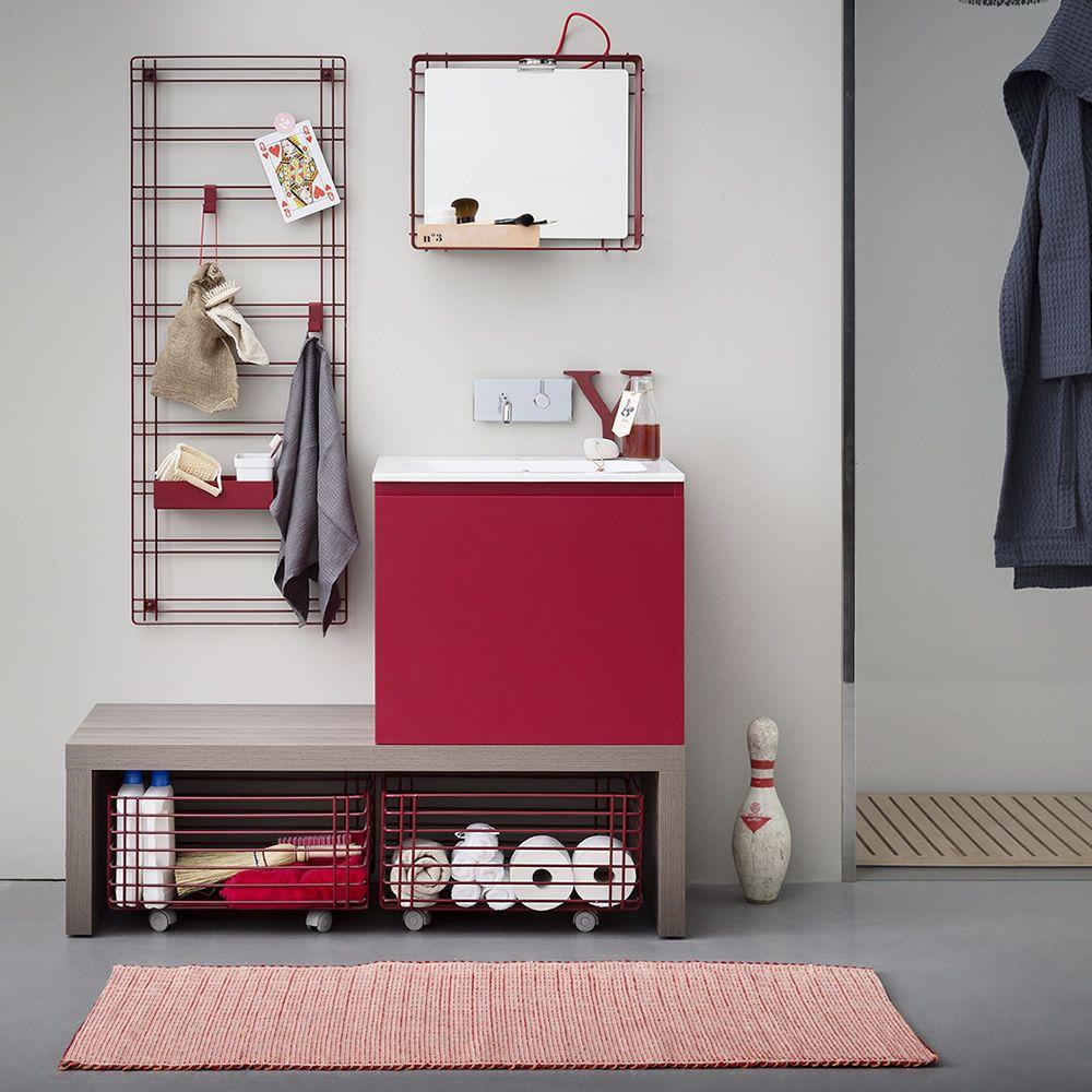 Sapone griglia porta accessori in metallo disponibile in diversi colori sediarreda - Accessori bagno ufficio ...