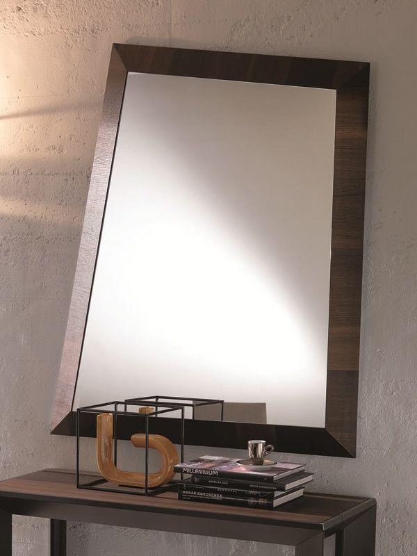 Look specchio moderno con cornice in legno sediarreda - Specchio con cornice ...