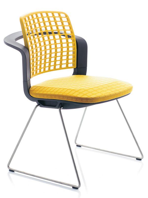 Sideways ® - Sedia ufficio ergonomica HÅG, impilabile, con schienale traforato - Sediarreda