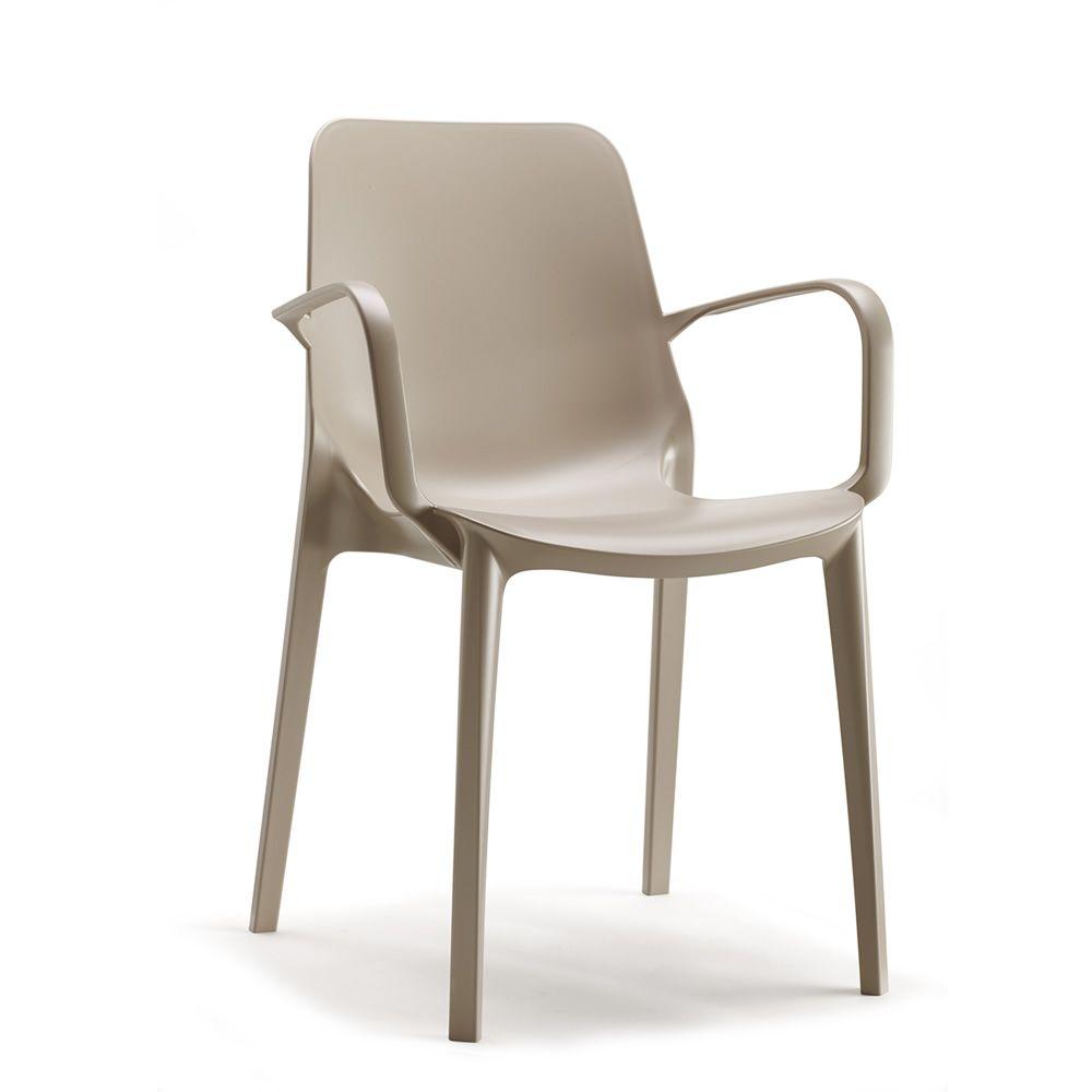Ginevra p 2333 sedia con braccioli in tecnopolimero di Sillas de cocina con reposabrazos