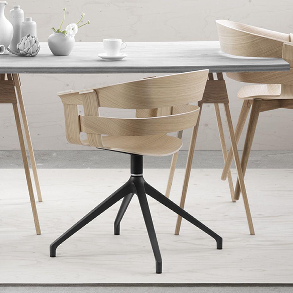 Wick s sedia girevole in metallo seduta in for Sedia design girevole